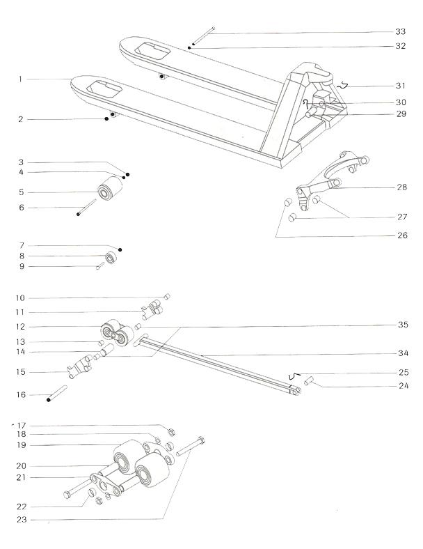Hyster PM23 quicklift - hlavní rám